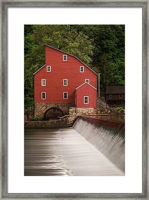 Red Mill Clinton New Jersey Framed Print by Terry DeLuco