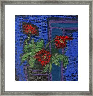 Red Mini Surprise Framed Print by Jo Anne Neely Gomez
