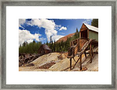 Red Mountain Mining - The Loader Framed Print by Lana Trussell