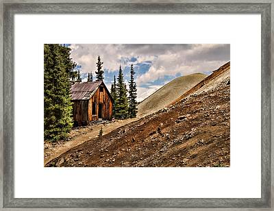 Red Mountain Mining Shack Framed Print by Lana Trussell