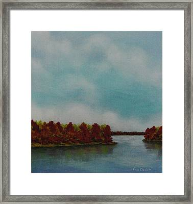 Red Oaks On The River Framed Print by Richard Van Order