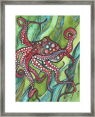 Red Octo Framed Print by Tamara Phillips