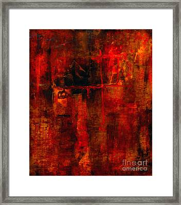 Red Odyssey Framed Print by Pat Saunders-White
