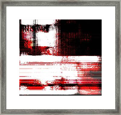 Red On Wood Framed Print by Fania Simon