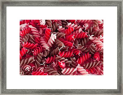 Red Pasta Framed Print by D Plinth