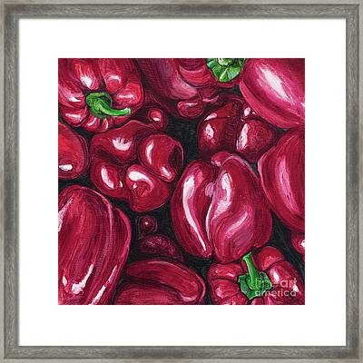 Red Peppers Framed Print by Patty Vicknair