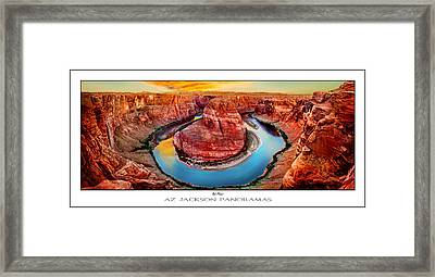 Red Planet Panorama Poster Print Framed Print by Az Jackson