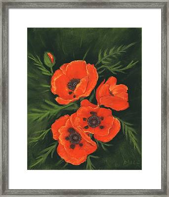 Red Poppies Framed Print by Anastasiya Malakhova