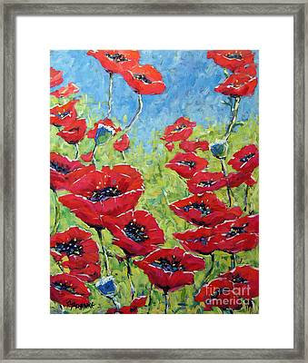 Red Poppies By Prankearts Framed Print by Richard T Pranke