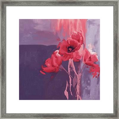 Red Poppies II Framed Print by Mawra Tahreem