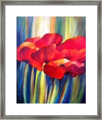 Red Poppies Framed Print by Patricia Lyle