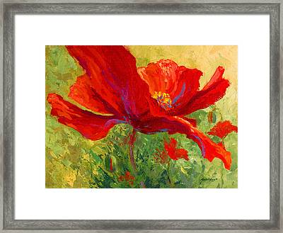 Red Poppy I Framed Print by Marion Rose