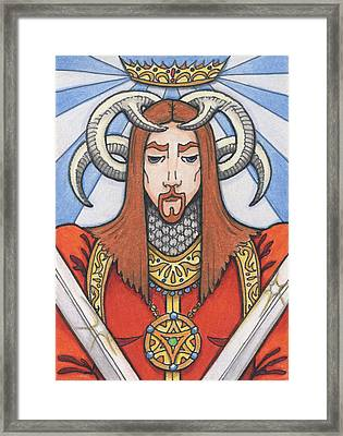 Red Prince Framed Print by Amy S Turner