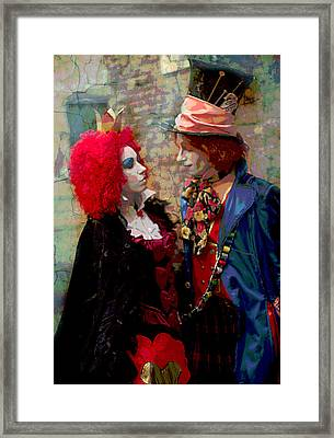 Red Queen And Mad Hatter Framed Print by Suzanne Powers