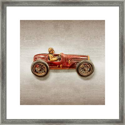 Red Racer Right Framed Print by YoPedro
