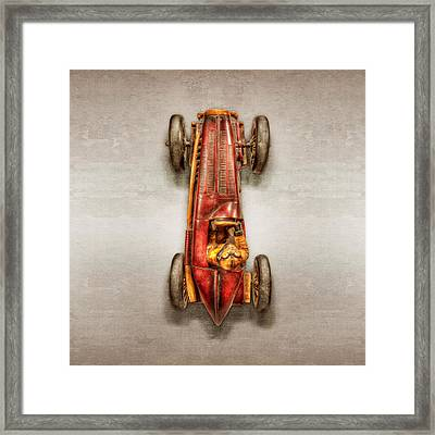 Red Racer Top Framed Print by YoPedro