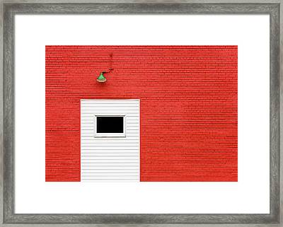 Red, Red Wall Framed Print by Todd Klassy