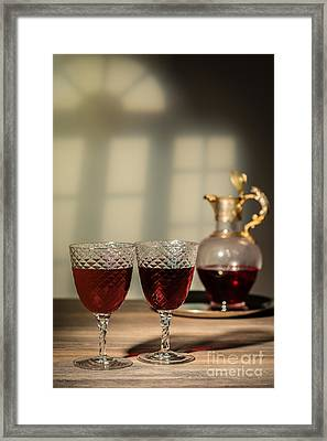 Red Red Wine Framed Print by Amanda Elwell