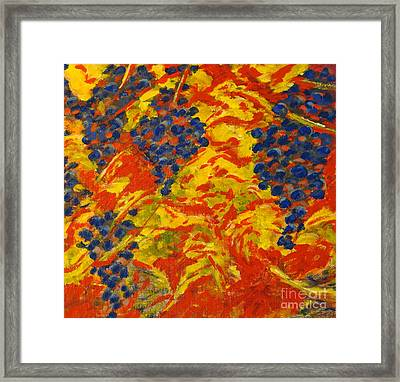 Red Red Wine Framed Print by Angela Maher