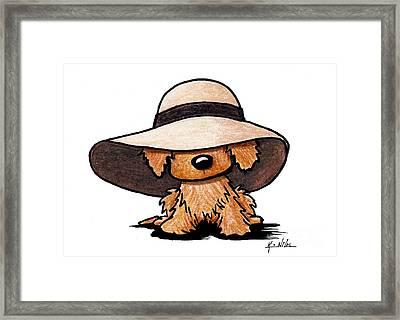 Red Retriever Puppy Framed Print by Kim Niles