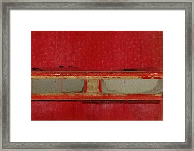 Red Riley Collage Framed Print by Carol Leigh