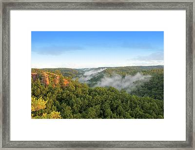 Red River Gorge Kentucky View Of Chimney Top Rock At Sunset Framed Print by Design Turnpike