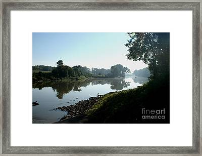 Red River Of The North Framed Print by Steve Augustin