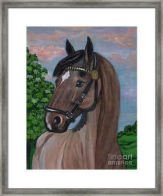 Red Roan Horse Framed Print by Anna Folkartanna Maciejewska-Dyba