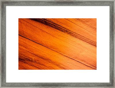 Red Rock Abstract 1 Framed Print by Az Jackson