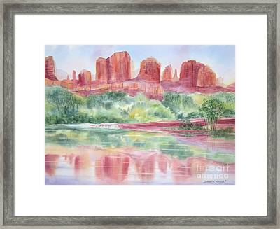 Red Rock Canyon Framed Print by Deborah Ronglien