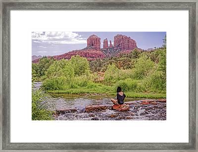 Red Rock Crossing -  Sedona Arizona Usa Framed Print by Tony Crehan
