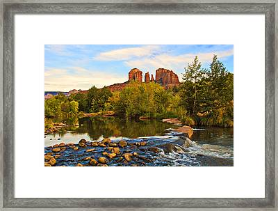 Red Rock Crossing Three Framed Print by Paul Basile