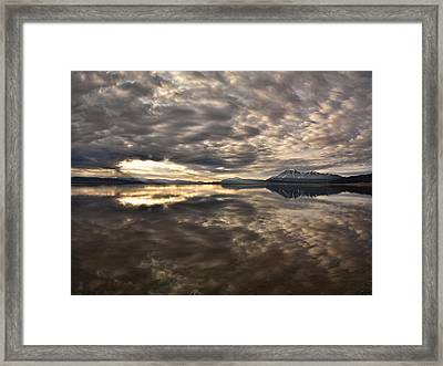 Red Rock Lake Sunrise Framed Print by Leland D Howard