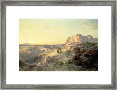 Red Rock Trail Framed Print by Thomas Moran