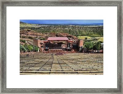 Red Rocks Ampitheatre Colorado - Photography Framed Print by Ann Powell
