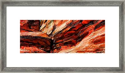 Red Rock Cliff Abstract Framed Print by Bill Caldwell -        ABeautifulSky Photography