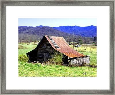 Red Roof Framed Print by Glenda Barrett