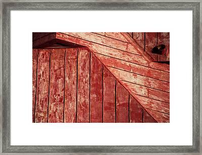 Red Roof Framed Print by Karol Livote