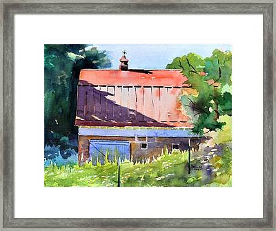 Red Roof Shadow Framed Print by Spencer Meagher