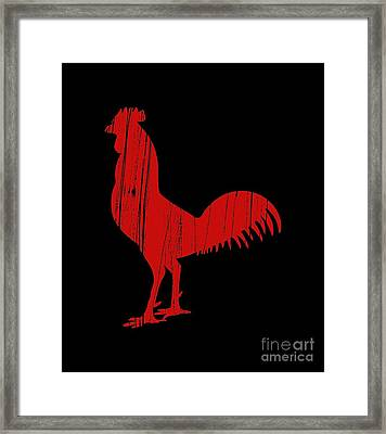 Red Rooster Tee Framed Print by Edward Fielding