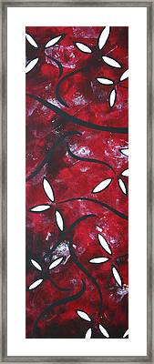 Red Roses 1 By Madart Framed Print by Megan Duncanson