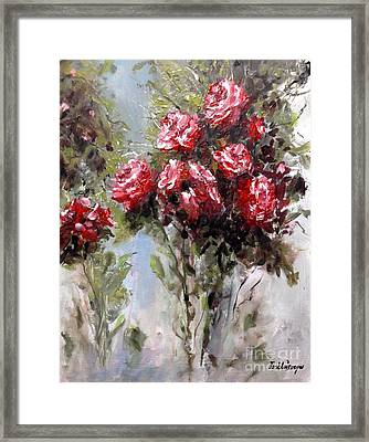 Red Roses Framed Print by Jose Luis Reyes