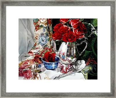 Red Roses Framed Print by Kimberly Meuse