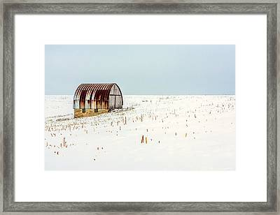 Red, Rusty Roof Framed Print by Todd Klassy