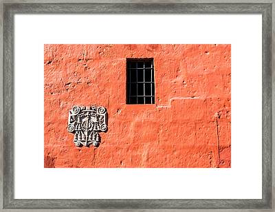 Red Santa Catalina Monastery Wall Framed Print by Jess Kraft