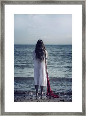 Red Scarf Framed Print by Joana Kruse