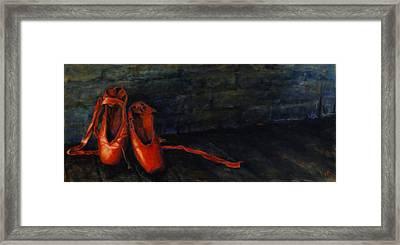 Red Shoes Framed Print by Ann Moeller Steverson