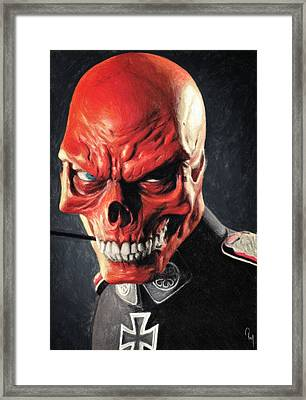 Red Skull Framed Print by Taylan Soyturk