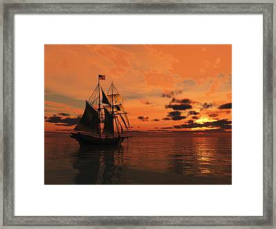 Red Sky At Night Framed Print by Timothy McPherson