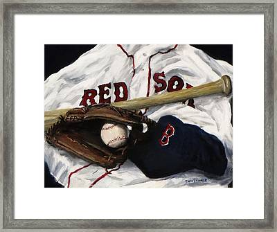 Red Sox Number Nine Framed Print by Jack Skinner